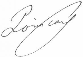 Signature d'Henri Poincaré