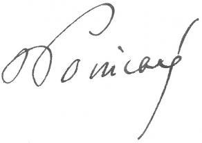 Signature de Raymond Poincaré