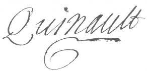 Signature de Philippe Quinault