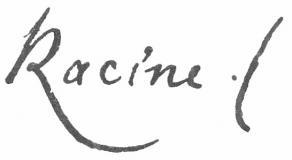 Signature de Jean Racine