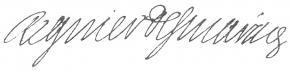 Signature de François-Séraphin Régnier-Desmarais