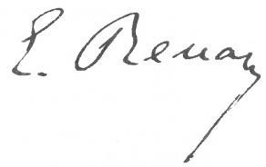 Signature d'Ernest Renan