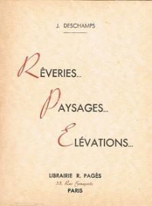 Rêveries. Paysages. Elévations