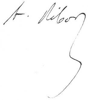 Signature d'Alexandre Ribot