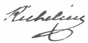 Signature d'Armand du Plessis, duc de Richelieu