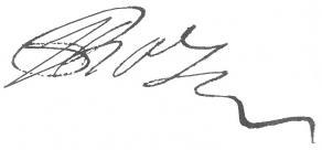 Signature de Toussaint Rose