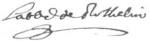 Signature de Charles d'Orléans de Rothelin, abbé