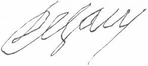 Signature de Louis de Sacy