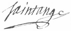Signature d'Ange-François Fariau, dit de Saint-Ange