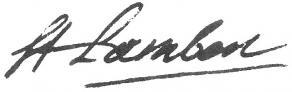 Signature de Jean-François de Saint-Lambert