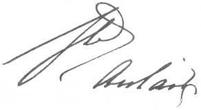 Signature de Louis de Beaupoil, comte de Sainte-Aulaire