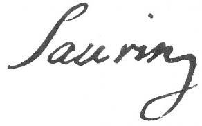 Signature de Bernard-Joseph Saurin