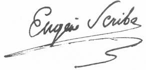 Signature d'Eugène Scribe