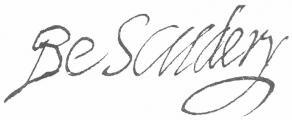Signature de Georges de Scudéry