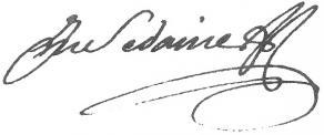 Signature de Michel-Jean Sedaine