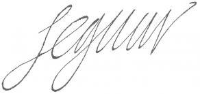 Signature de Pierre Séguier