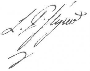 Signature de Louis-Philippe de Ségur