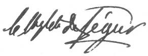 Signature de Philippe-Paul de Ségur
