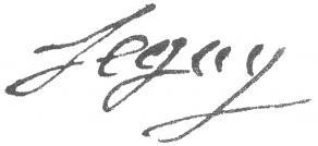 Signature de Joseph Séguy