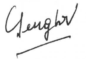 Signature de Léopold Sédar Senghor