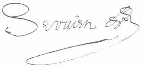 Signature de Abel Servien