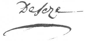 Signature de Raymond de Sèze