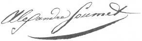 Signature d'Alexandre Soumet