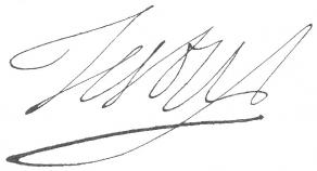 Signature de Jean Testu de Mauroy