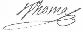 Signature d'Antoine-Léonard Thomas