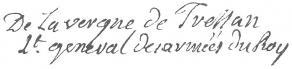 Signature de Louis-Élisabeth de La Vergne de Tressan
