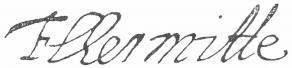 Signature de François Tristan l'Hermitte