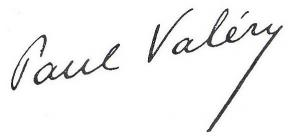 Signature de Paul Valéry