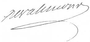 Signature de Jean-Baptiste-Henri de Valincour