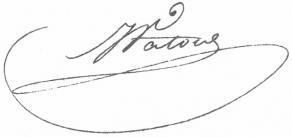 Signature de Jean Vatout