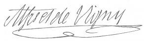 Signature d'Alfred de Vigny