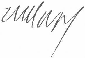 Signature de Claude-Louis-Hector de Villars