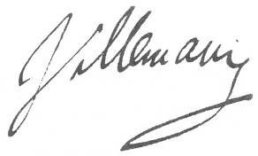 Signature d'Abel-François Villemain