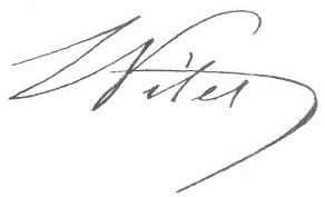 Signture de Louis, dit Ludovic Vitet